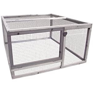 flamingo cage externe poulailler enclos happy run cottage pour lapins et poule. Black Bedroom Furniture Sets. Home Design Ideas