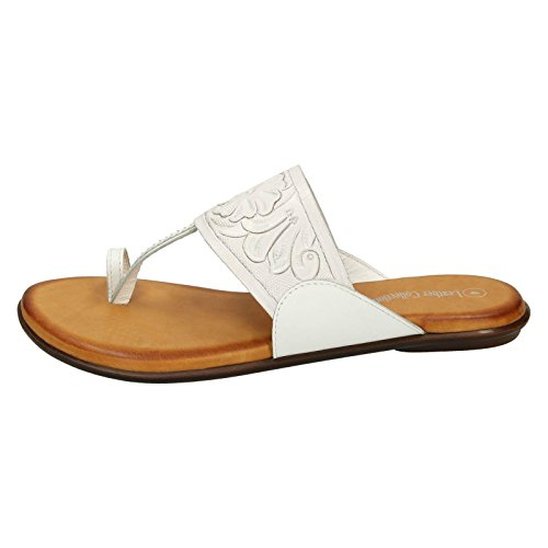 The Leather Collection Mules femme Blanc
