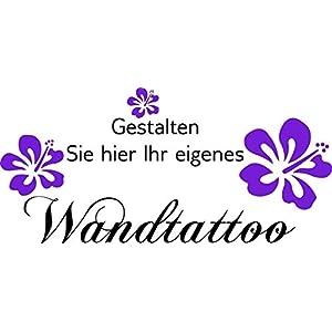 Wandtattoo-Wandaufkleber ***Gestalten Sie Ihr eigenes Wandtattoo*** - (Größen.- Schrift.- und Farbauswahl)