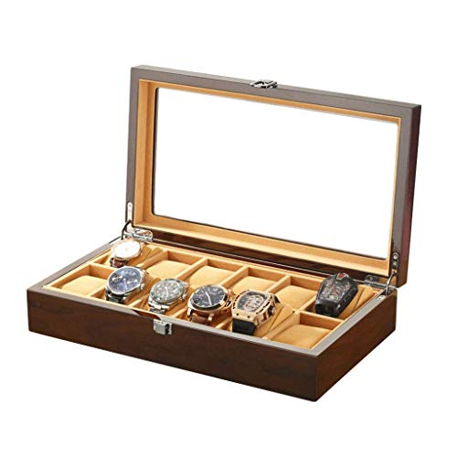 wellery Display Case Mens Watch Display Box, Accessories-Gift for Man, Women, Husband,A ()