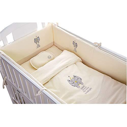 Literie pour bébé berceau amovible et lavable pare-chocs barre de protection ensembles de literie en coton de couleur nouveau-né 110 * 65 10 ensembles