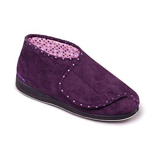 avvio Padders donne 'accarezzare' | Profondo e di grandi dimensioni | Extra grande larghezza di EE | 20 millimetri tallone | calzascarpe libero Lilla / viola