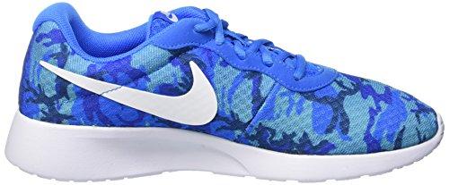 Nike Herren Tanjun Print Laufschuhe, Blau Blau