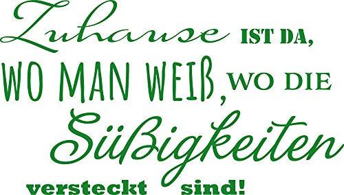 GRAZDesign Wandsticker Deko Aufkleber Zuhauß ist da wo Man weiß - Home Dekoration modern lustiger Spruch - Wandtattoo als Geschenk und Dekoration / 100x57cm / 300231_57_WT062