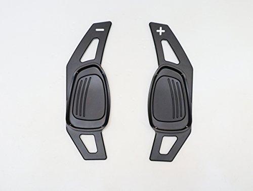 Pinalloy CNC en alliage de métal Noir volant Paddle Shifter extension pour A5 S3 S5 S6 SQ5 RS3 RS6 RS7 2014-17