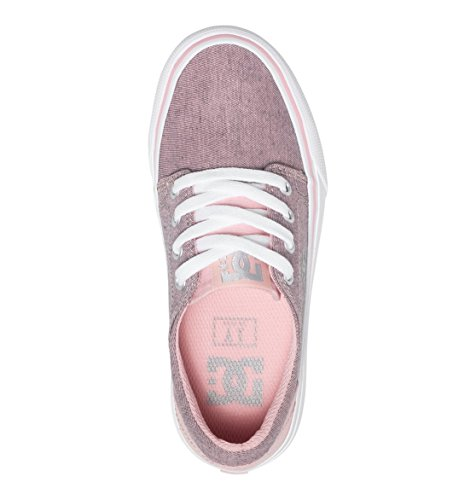DC Shoes Trase Tx Se G, Baskets Basses Fille Rose - Pink/White
