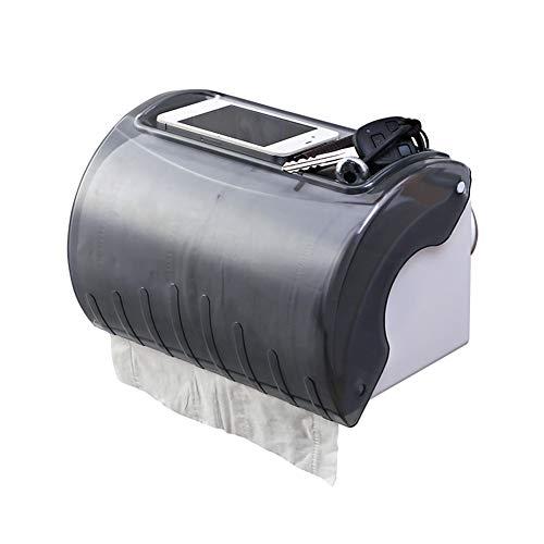 HCDMRE Tragbarer Saug-Toilettenpapierhalter mit Ablage, Seidenpapierhalter, Wandhalterung, für Badezimmer - Traditionelle-badezimmer-eitelkeit-set