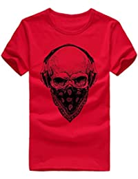 OHQ Camiseta Impresa para Hombres Blancos Hombres Impresión Camisetas Camiseta Manga Corta Blusa Humor Pareja Hombre Deporte Moda muy13dtWsh