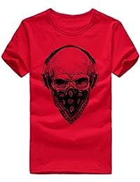 OHQ Camiseta Impresa para Hombres Blancos Hombres Impresión Camisetas Camiseta Manga Corta Blusa Humor Pareja Hombre Deporte Moda