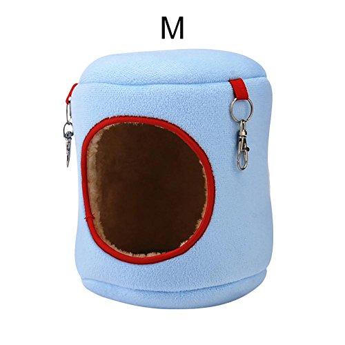Unbekannt PER Kleine Tier Plüsch Hängematte Winter Weiches Warmes Bett Haus Käfig Nest Für Hamster Meerschweinchen Igel Ratte Chinchillas (Hamster Für Käfige Kleine)