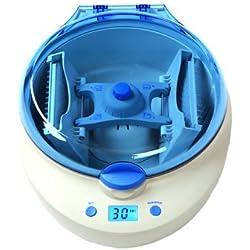 Hanchen Micro centrifuge de micro plaques Rotor horizontal 2 200 tr/min Mini centrifugeuse de laboratoire avec minuteur 0 - 10 min 2 adaptateurs MPC-P25