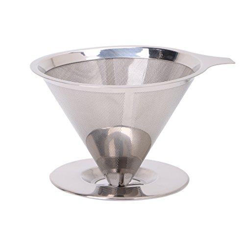 Edelstahl-Maschen-Kaffeefilter Xuiu, papierlos gießen über dem Kegel-Tropfrohr wiederverwendbar