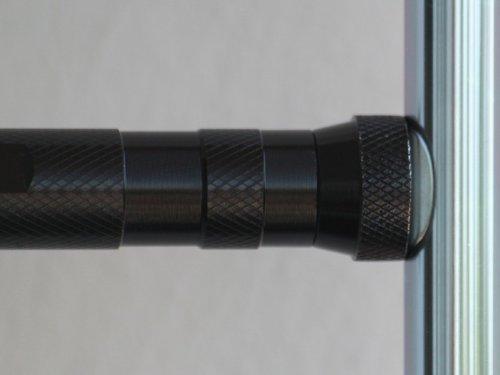 Led teleskop taschenlampe mit drehbarem leuchtenkopf und