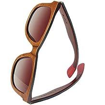be52bbd0cccd52 WOLA lunette de soleil bois AIR lunettes style rectangulaire