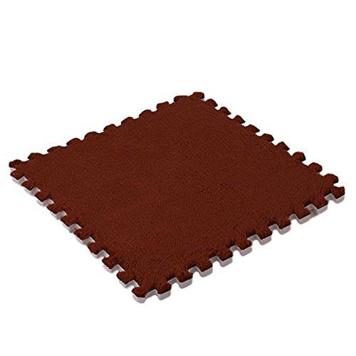 Weiche Baby Kids Schaum Puzzle Bodenmatte, Teppich Schaumstoff Spielmatte für Bodenschutz, Garage, Übung, Yoga, Spielzimmer (braun) - Schaumstoff Ineinander Greifende Matten