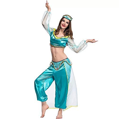 thematys Jasmin Kostüm Damen arabische Prinzessin - Kostüm-Set perfekt für Cosplay, Karneval & Mottowoche - 5 Verschiedene Größen (S) (Disney Prinzessin Jasmin Kostüm Für Erwachsene)