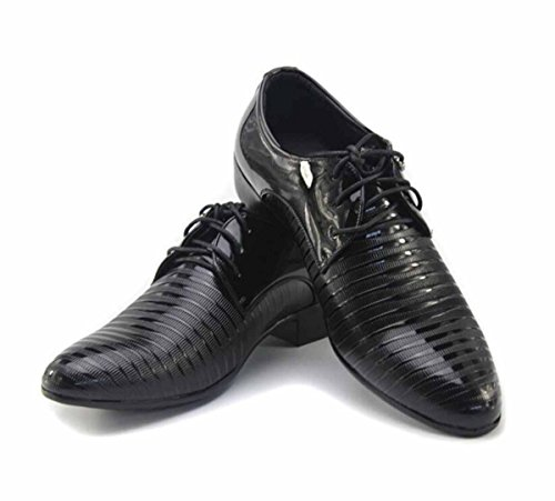 ALSYIQI Mens Classical Fashion Casual Oxford Business Shoes Dress Shoes 8870 Black