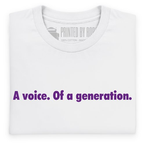 A Voice of a Generation T-Shirt, Herren Wei