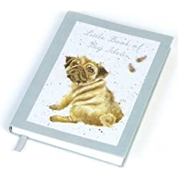 Diseños Wrendale - pequeño libro de grandes Ideas cuaderno de tela - Pug