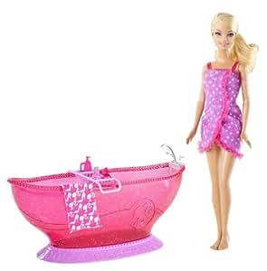 Barbie Bath Tub And Barbie Doll Playset