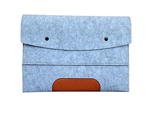 0.75 Hp Air (Filz Laptop Sleeve Laptoptasche Hülle Laptophülle Schutzhülle für Laptops Hülle Sleeve Notebooktasche für 10-17 Zoll Macbook air/pro/ret,iPad für ipad 2 (kompatibel mit ipad 3/4) Hell Grau)