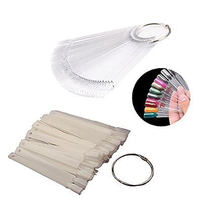 AllRight Nail Art Tips Pop Sticks Display Fan Practice Starter Kit 50 Pcs