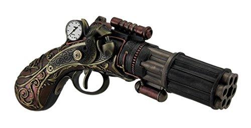 Zeckos 6Barrel Dekorative Steampunk Pistole Statue