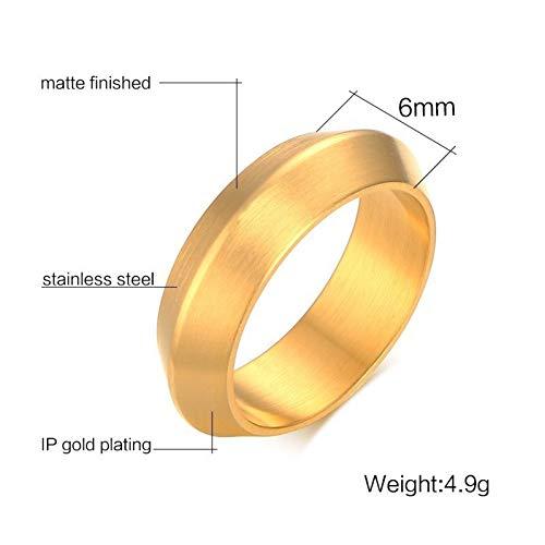 ERDING Unisex/Verlobungsring/Freundschaftsring/Einzigartige UFO-Design-Ringe für Herren Gold Tone Matte Finished Edelstahlring Männerschmuck