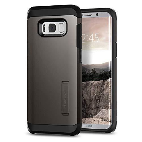 Spigen 565CS21641 Tough Armor für Samsung Galaxy S8 Hülle, Doppelte Schutzschicht Handyhülle für Extrem Fallschutz Schutzhülle Case Gunmetal