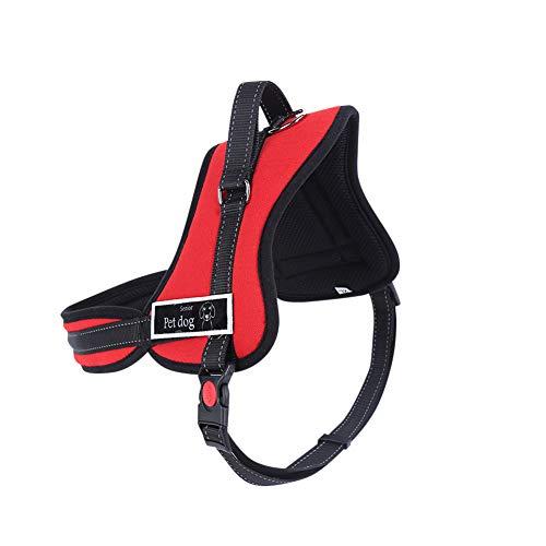 No-Pull Hundegeschirr Brustgeschirr Für Welpengeschirr Einstellbar Weich Kontrolle Gepolstert Dog Harness Rot S