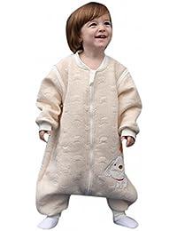 babySchläfsack langarm winter kinderSchlafsack,Hund mit Füßen Baumwolle Junge Mädchen unisex ganzjahres Schlafanzug .Neugeborene pyjama/overall /Strampler。(80cm.90cm,100cm.0-4 Jahre)。