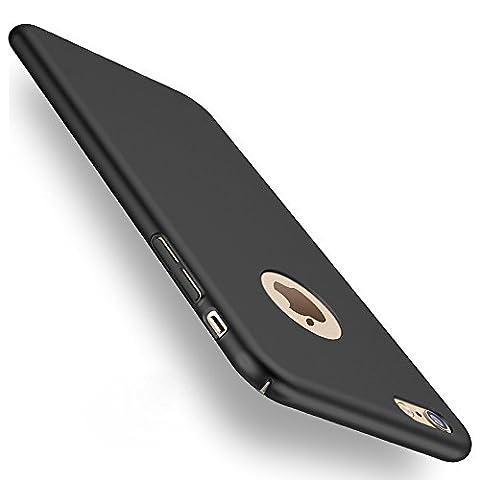 Joyguard Rückdeckel mit Gehärtetem Glas Displayschutz (Anti-Kratzer, 0,3mm dünn, geeignet für iPhone 6/6S) Schwarz