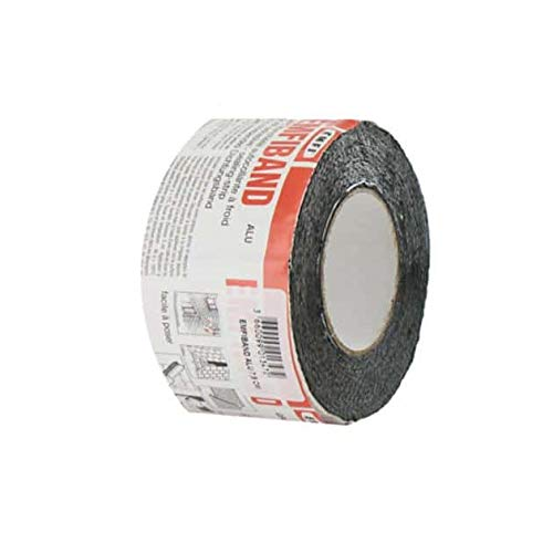 EMFI Dichtband, selbstklebend, Kaltgrau, Blei, 10 cm x 10 m