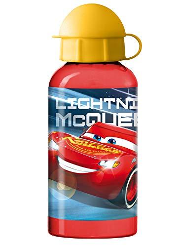 Ragusa-Trade Disney Cars - Lightning McQueen Trinkflasche Aluflasche (400 ml) mit Open-Close Verschluss (0008), 14,5 x 6,5 cm, rot