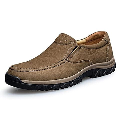 FADACAI Männer Schuhe Bequeme Arbeitsschuhe Hochzeit Schuhe Abendschuhe Kortex 8725FD , brown , 45