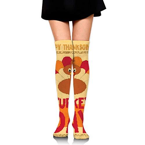 CVDGSAD Thanksgiving Day Compression Socks Foot Long Stockings Knee High Socks Men Women Supports Sport Running Cycling Football Slim Leg Travel Medical Nursing