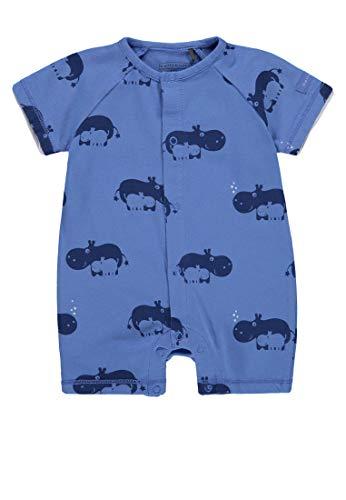 Bellybutton Kids Baby-Jungen Overall kurz, 1/4 Arm Strampler, Mehrfarbig (Allover|Multicolored 0003), 86