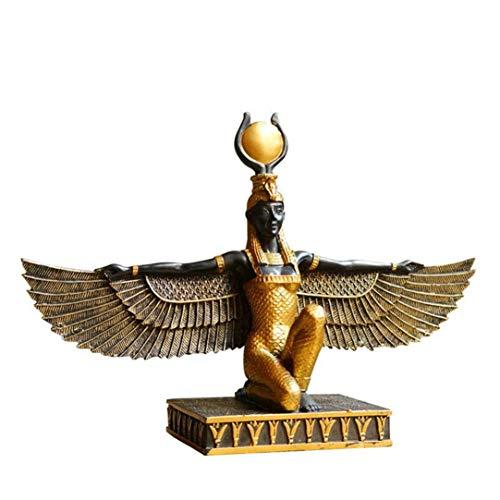 (zjhzs Alte ägyptische Flügel Sun Göttin Isis Statue Dekoration Tourist Souvenir Statue Schutzpatron Ornament Hohe Qualität Harz Handwerk)