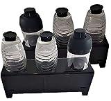 flexiPLEX*2er Set* bottleDRY Triple aus PLEXIGLAS® Abtropfhalter und Flaschenständer in schwarz für Kunststoffflaschen/Glasflaschen(außer für SodaStream Easy Flaschen dafür bottleDRY-TM verwenden)