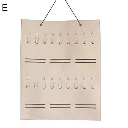 Steellwingsf Multi-Slot Sonnenbrille Veranstalter hängen Ohrringe Halskette Aufbewahrung Tasche Halter - Khaki E