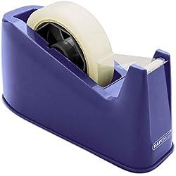 Rapesco Accesorios - Dispensador de cinta adhesiva para rollos de tamaño grande, azul