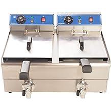 fritura 400 V en acero inoxidable 2 x 16 L) para especialmente crujientes patatas fritas