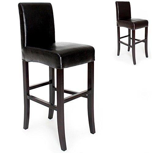 TecTake Sgabelli da bar design noir sgabello 111cm - disponibile in diversi colori - (Nero)