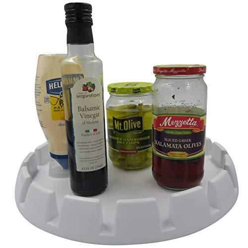 Evelots Spinning-Gewürztablett aus Kunststoff für Lebensmittel/Gewürzbehälter Green Lazy Susan