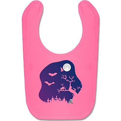 Baby - Friedhof gruselig Totenkopf Mond - Unisize - Pink - BZ12 - Baby Lätzchen Baumwolle ()
