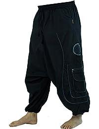 Guru-Shop Haremshose, Pluderhose, Pumphose, Aladinhose, Herren, Baumwolle, Männerhosen Alternative Bekleidung
