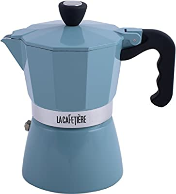 La Cafetiere 3-Cup Classic Espresso Coffee Maker Percolator, Retro Blue by Creative Tops