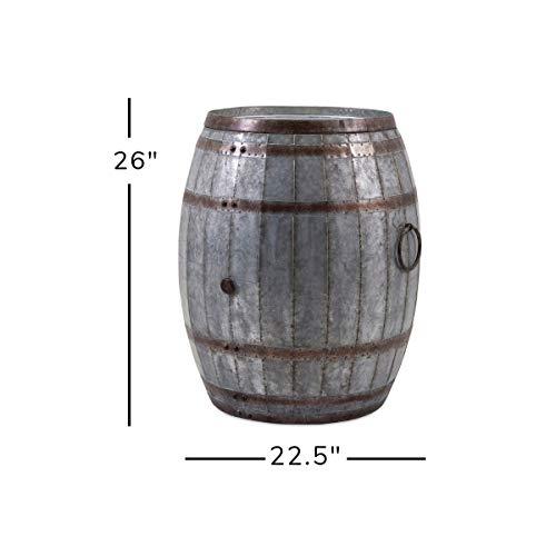 Imax Vineyard Weinfass Aufbewahrung Tisch, Metall, braun