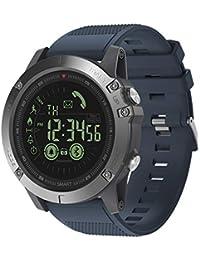 Zeblaze Vibe 3 Sport Smart Watch 5ATM Wasserdichtes Smart Wrist Band Schrittzähler/Alarm / Stoppuhr/Fernbedienung Kamera/Erinnerungen Kompatibel Mit IOS Und Android,Blue