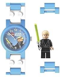 Lego - 740406 - Star Wars Luke Skywalker - Montre Enfant - Quartz Analogique - Cadran Noir - Bracelet Plastique Multicolore